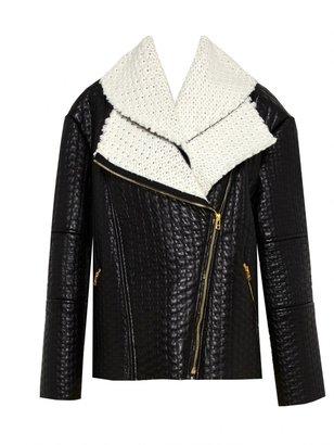 Alice + Olivia Carrie Double Collar Zip Jacket