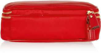 Anya Hindmarch Make-Up patent leather-trimmed cosmetics case
