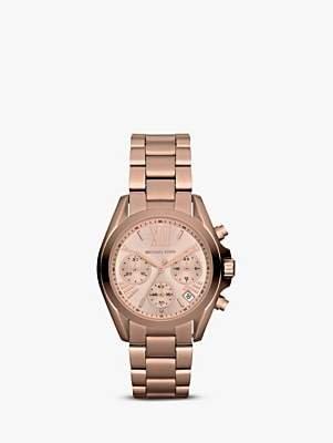 Michael Kors MK5799 Women's Mini Bradshaw Stainless Steel Bracelet Strap Watch, Rose Gold