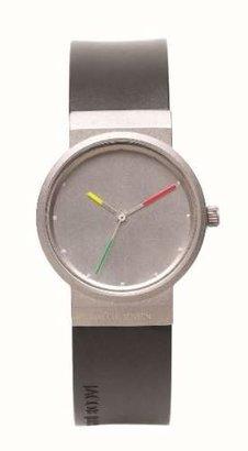 Jacob Jensen Women's 28mm Black Polyurethane Band Swiss Quartz Watch 651