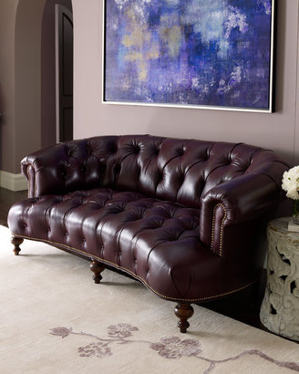 """Old Hickory Tannery Pressley"""" Leather Sofa"""