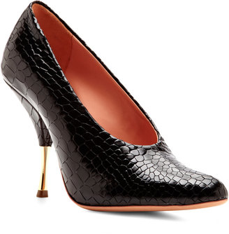 Rochas Embossed Leather Pumps