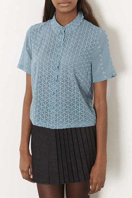Topshop Scallop Edge Shirt
