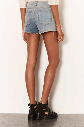 Topshop MOTO Embroidered Hotpants