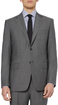 Canali Grey Wool Travel Suit