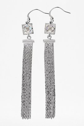 French Connection Faceted Window Crystal Earrings