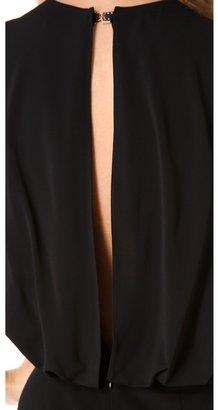 L'Agence Draped Back Dress
