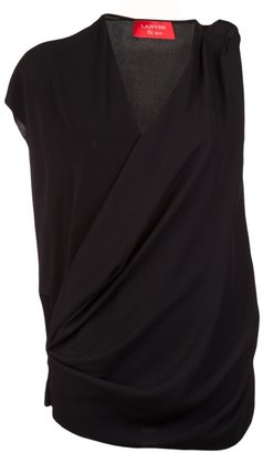 Lanvin Asymmetrical draped top
