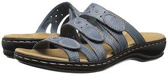 Clarks Leisa Cacti Q (Black Leather) Women's Sandals