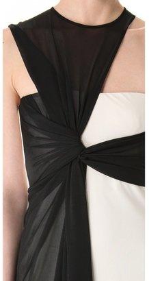 Halston Side Drape Gown