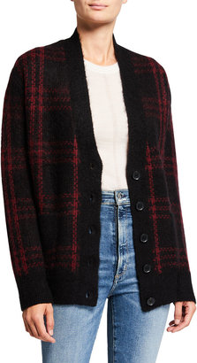 RE/DONE '90s Oversized Plaid Cardigan