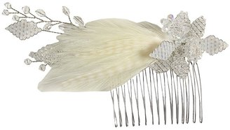 Jane Tran Crystal Feather Comb