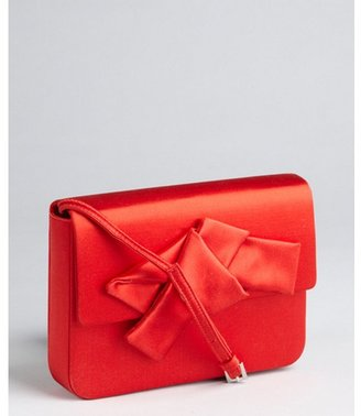 Prada red satin bow mini shoulder bag