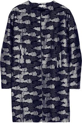 Michael Van Der Ham Camouflage-jacquard coat
