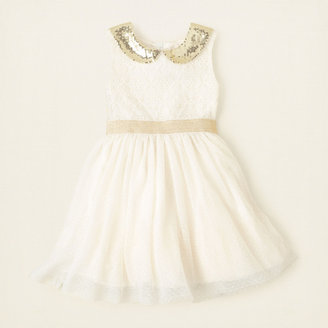 Children's Place Sequin collar dress