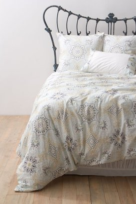 Anthropologie Ria Embroidered Duvet