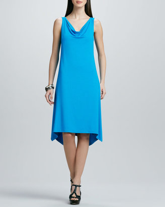 Eileen Fisher Cowl-Neck Washable Jersey Dress