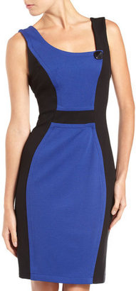 Yoana Baraschi Colorblock Sheath Dress, Blue/black