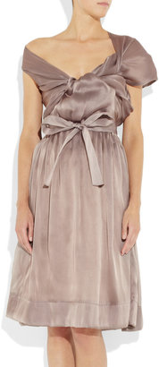 Vivienne Westwood Riding asymmetric silk-organza dress