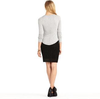 Rachel Roy Black Crochet Skirt