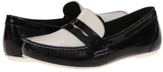 Cole Haan Monroe Deconstructed (Black Patent/Optic White) - Footwear