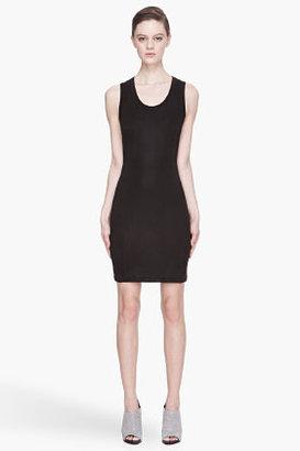 Kenzo Black semi-gloss cut-out Dress