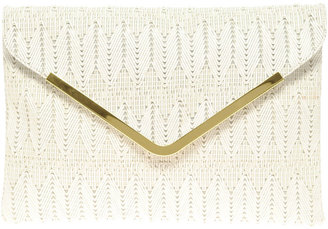 Asos Weave Metal Bar Clutch