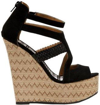 Qupid Women's Florence 34 Wedge Sandal