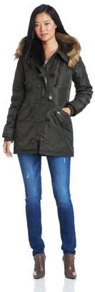 Miss Sixty Women's Anorak With Hood and Faux Fur