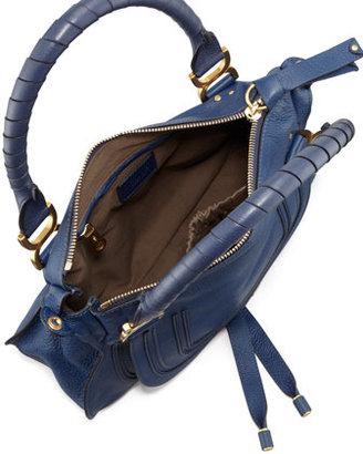 Chloé Marcie Medium Satchel Bag, Navy