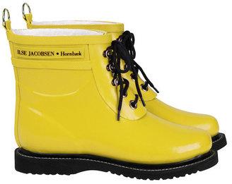 Ilse Jacobsen Hornbaek Lace Up Rainboot Short Yellow