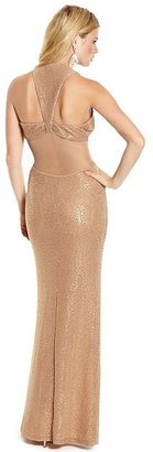 GUESS by Marciano Hayden Sequin Cutout Maxi Dress