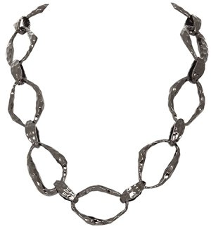 House Of Harlow Textured Link Necklace