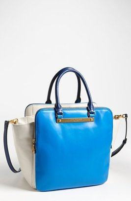 Marc by Marc Jacobs 'Goodbye Columbus - Bentley' Leather Tote Electric Blue Lemonade Multi