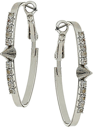 Topshop Spike Rhinestone Hoop Earrings