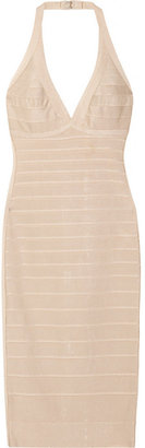 Herve Leger Laced-back bandage dress