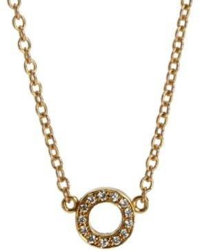 Jennifer Meyer Yellow Gold & Diamond 'O' Initial Pendant Necklace