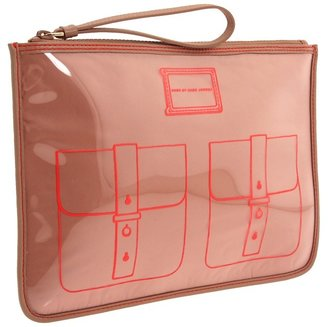 Marc by Marc Jacobs Werdie Clear Solids Tablet Wristlet (Nude) - Bags and Luggage