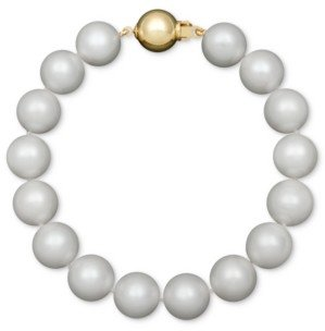 Belle de Mer Aa+ Cultured Freshwater Pearl Strand Bracelet (10-1/2-11-1/2mm) in 14k Gold