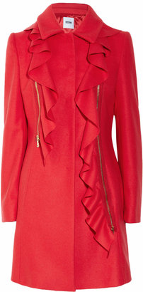 Moschino Cheap & Chic Moschino Cheap and Chic Ruffled wool and cashmere-blend coat