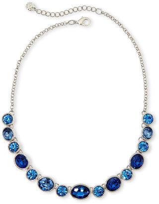 MONET JEWELRY Monet Silver-Tone Blue Stones Collar Necklace $32 thestylecure.com