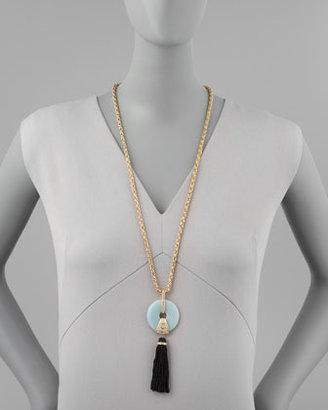 Rachel Zoe Amazonite Tassel Pendant Necklace