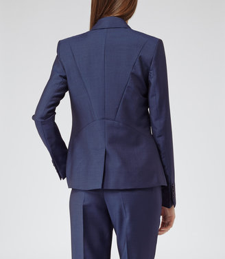 Reiss Aisha Ink PANEL DETAIL FITTED JACKET