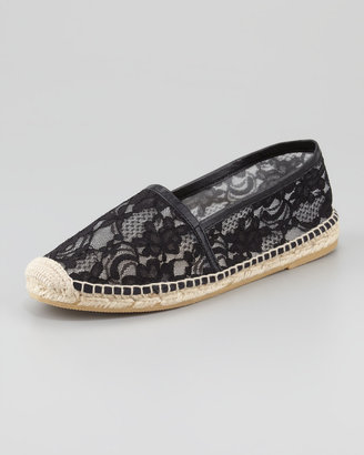 Bettye Muller Flat Lace Espadrille, Black