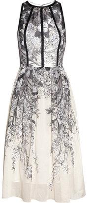 Lela Rose Printed cotton-voile dress