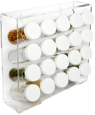 Container Store 20-Bottle Spice Rack Acrylic