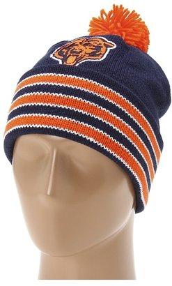Mitchell & Ness Chicago Bears Jersey Stripe Cuffed-Knit Beanie w/Pom Pom (Chicago Bears) - Hats