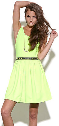 Reverse Spike Belt Skater Dress
