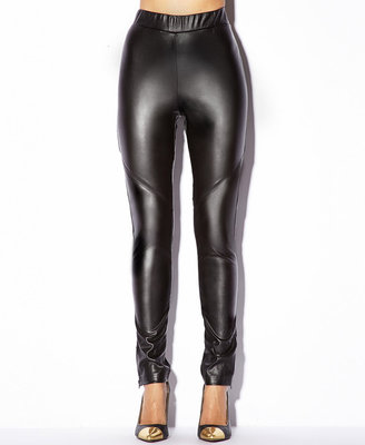 Forever 21 Zipped Faux Leather Leggings