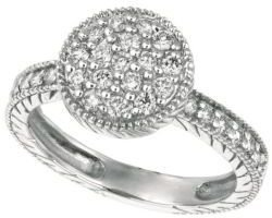 Lord & Taylor Circle Diamond Ring in 14 Kt. White Gold